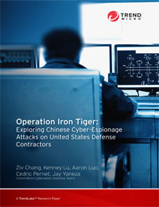 Operation Iron Tiger:Exploring Chinese Cyber-Espionage Attacks on United States Defense Contractors