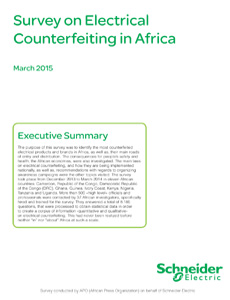 Survey on Electrical Counterfeiting in Africa
